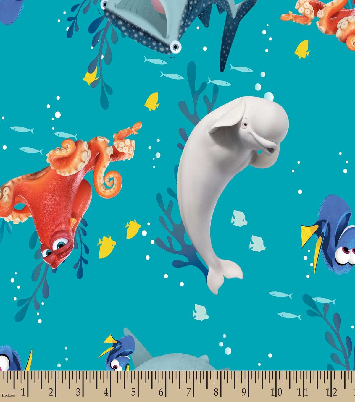 Disney® Finding Dory & Frie Print Fabric-Eco-Canvas | Fabric Finds ...
