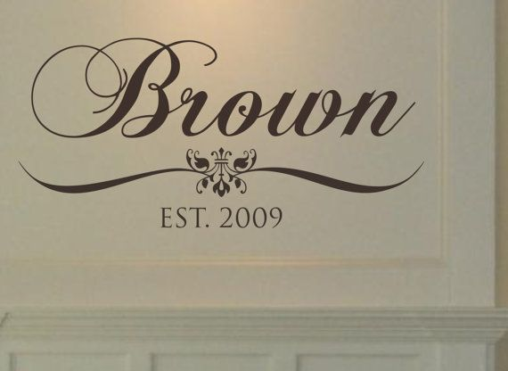 Personalized vinyl wall décor : Family last name vinyl wall decal personalized decor on