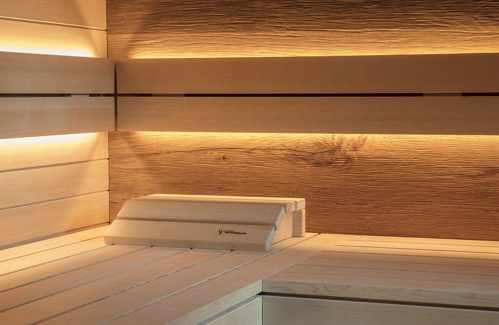 Sauna Im Bad Behaglich Und Warmend In 2020 Saunaofen Sauna Eiche Rustikal