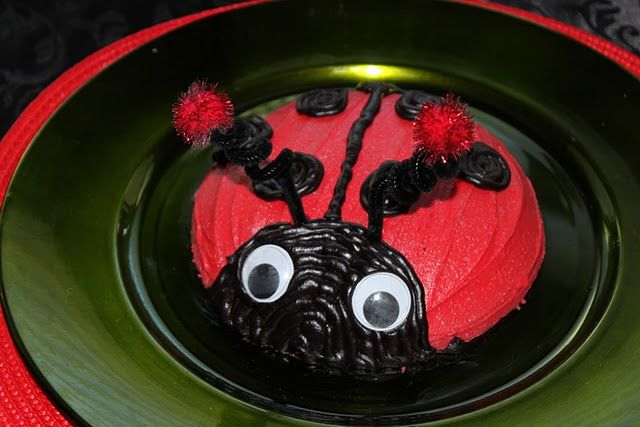 Incredible Ladybug Smash Cake Cooked In Glass Bowl Ladybug Smash Cakes Funny Birthday Cards Online Alyptdamsfinfo