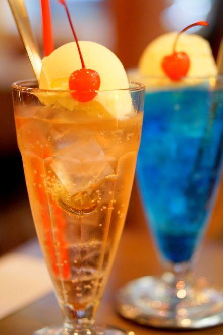 24種類も 京都 Shin Setsu で味わえる色とりどりのクリームソーダ クリームソーダ メロンソーダ 純喫茶