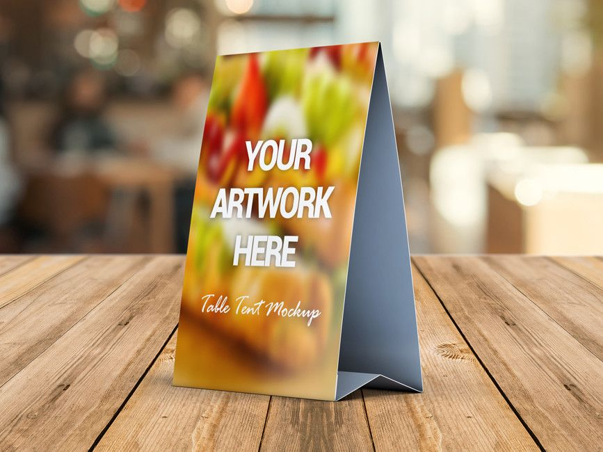 Download Free Table Tent Card Mockup Psd This Table Tent Card Mockup Is Great To Show Your Brand Or Designs For Restaurant Table Tents Tent Cards Custom Table