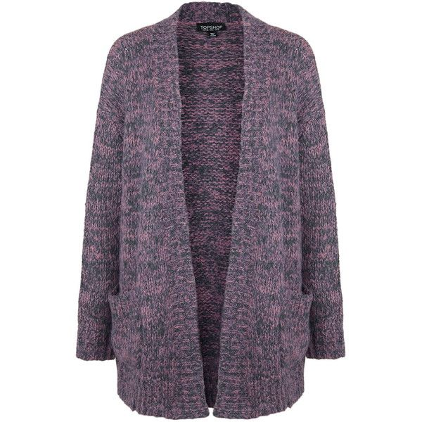 TOPSHOP Space Dye Twisted Yarn Cardigan ($105) ❤ liked on ...