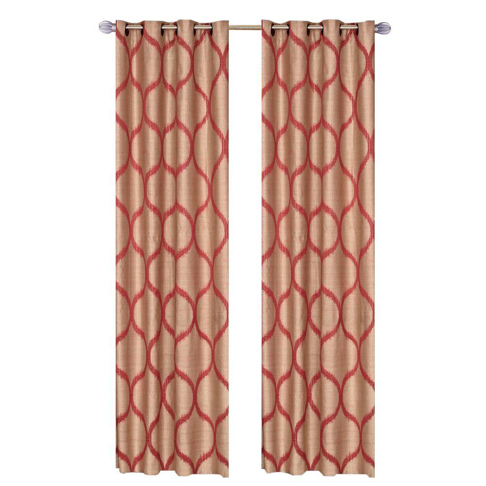 Lavish Home Rust Metallic Grommet Curtain Panel 84 In Length