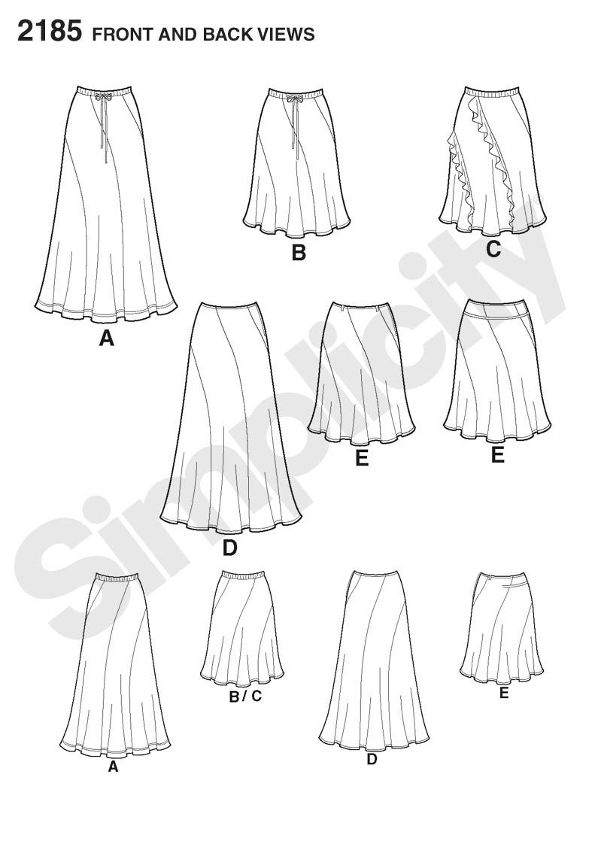 sewing skirts   SEWING/CROCHET   Pinterest   Falda, Patrones mujer y ...