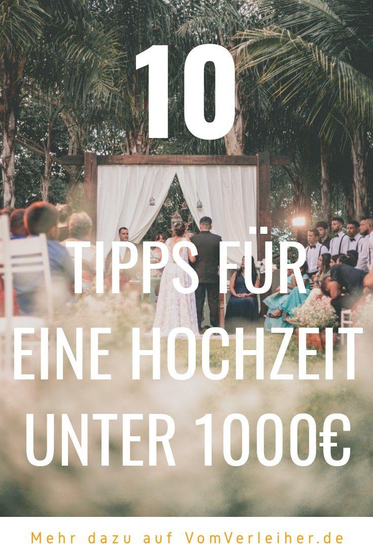 10 Tipps: Heiraten für unter 1000€ - so geht's!