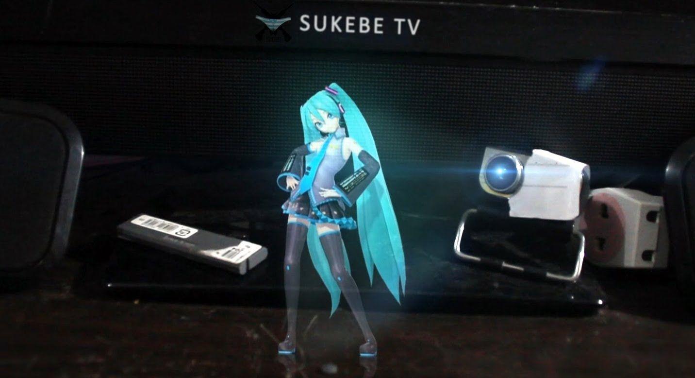 Hatsune Miku Real Life Hologram Home Made Youtube Hatsune Miku Miku Hatsune