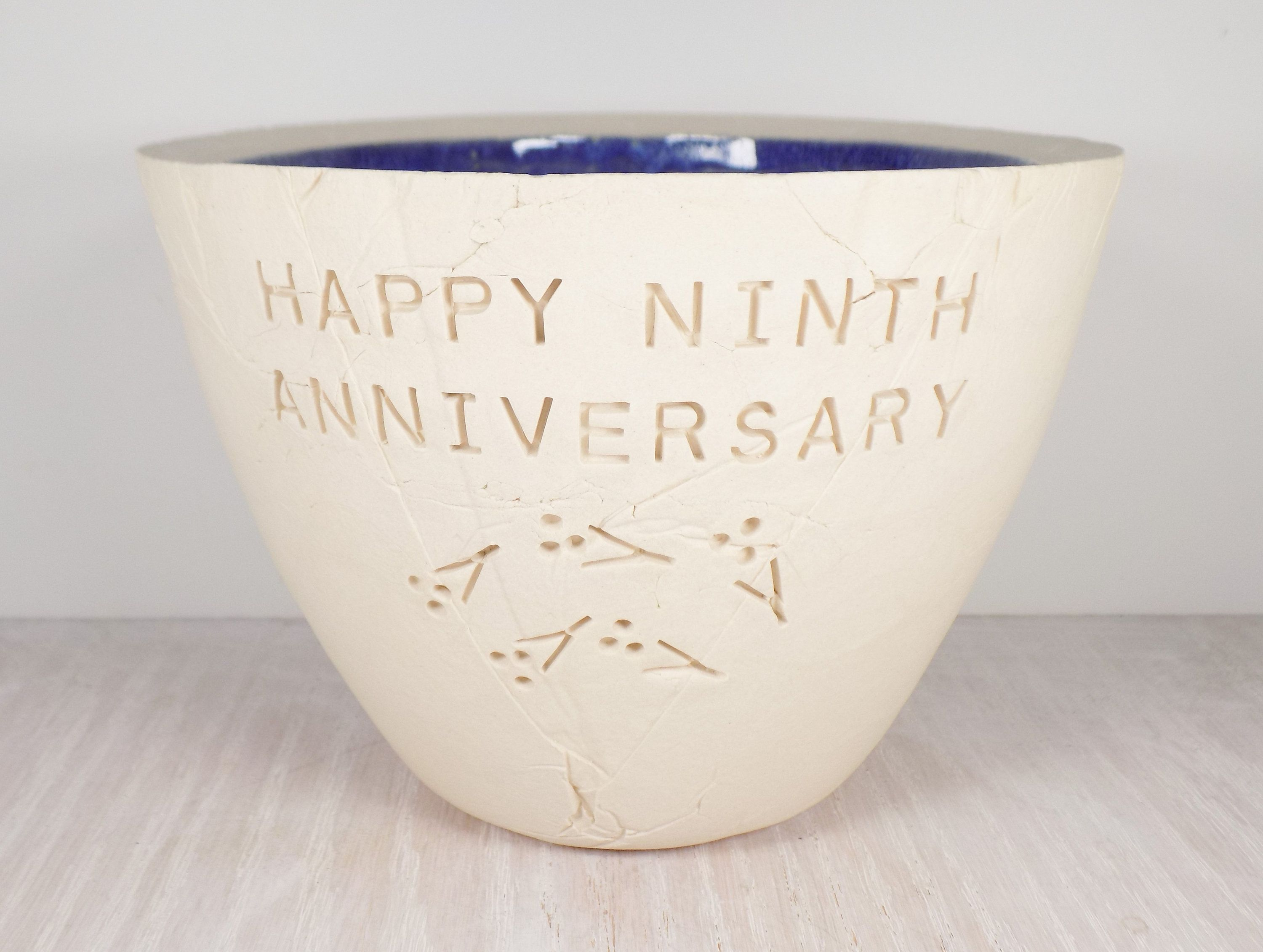 Ninth Wedding Anniversary Pottery Bowl 9th Anniversary Gift In 2020 Unique Wedding Gifts Wedding Gift Wife Unique Wedding Shower Gift