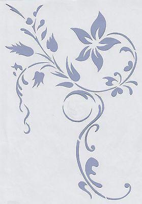Awesome Wandschablonen Schablone Wandtattoo Ornament Modern in M bel u Wohnen Dekoration Wandtattoos u Wandbilder