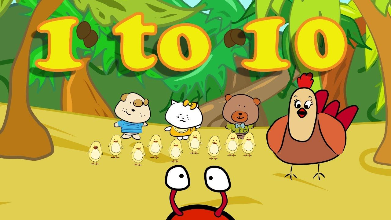 Numbers Song Counting From 1 10 Preschool Songs Counting Songs For Kids Kids Songs