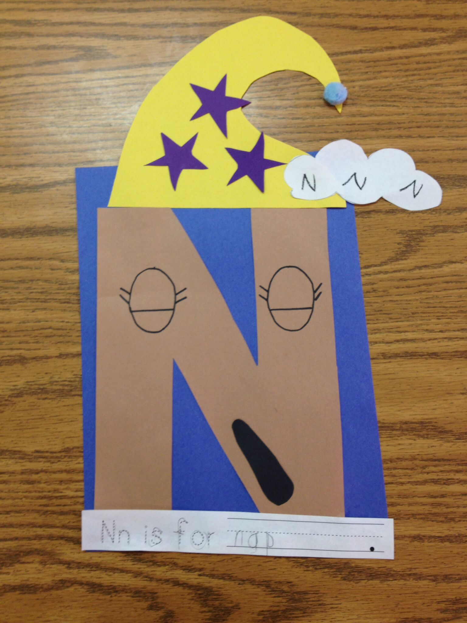 N Letter Craft Nn Is For Nap Or Nn Is For Night
