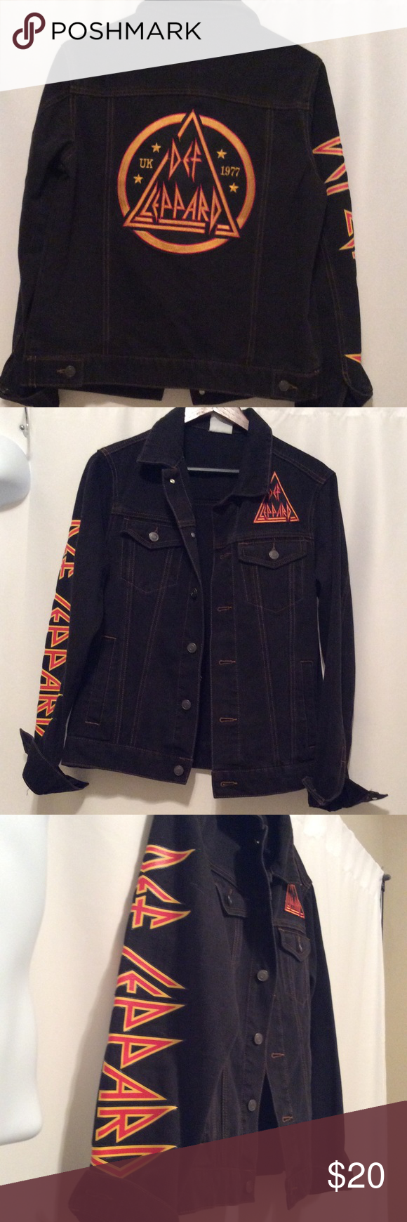 1af9dd0605 Def Leppard denim jacket Cute  rocker chic Def Leppard denim jacket!  Forever 21 Jackets