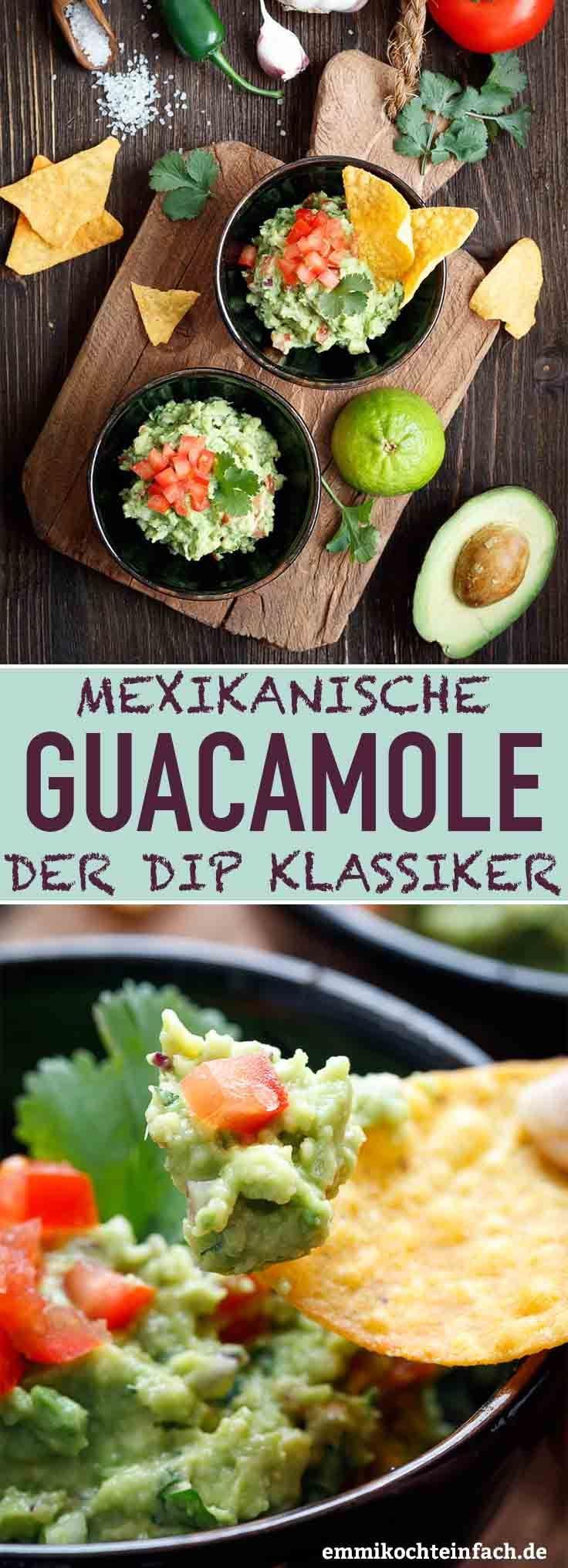 Mexikanische Guacamole - Der einfache Dip-Klassiker #vegetarischerezepteschnell