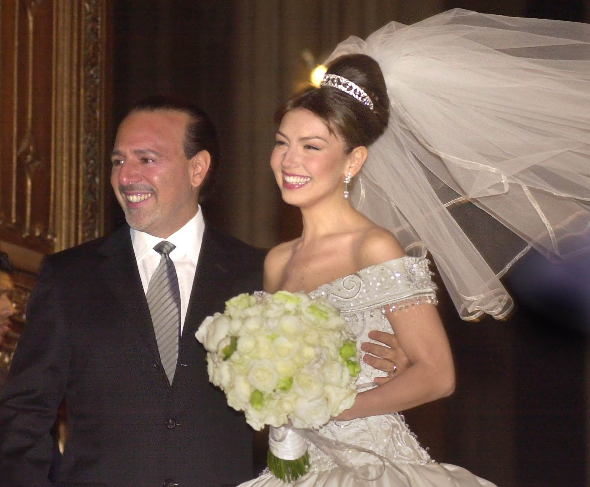 Thalia Attends Her Wedding Ceremony To Tommy Mottola