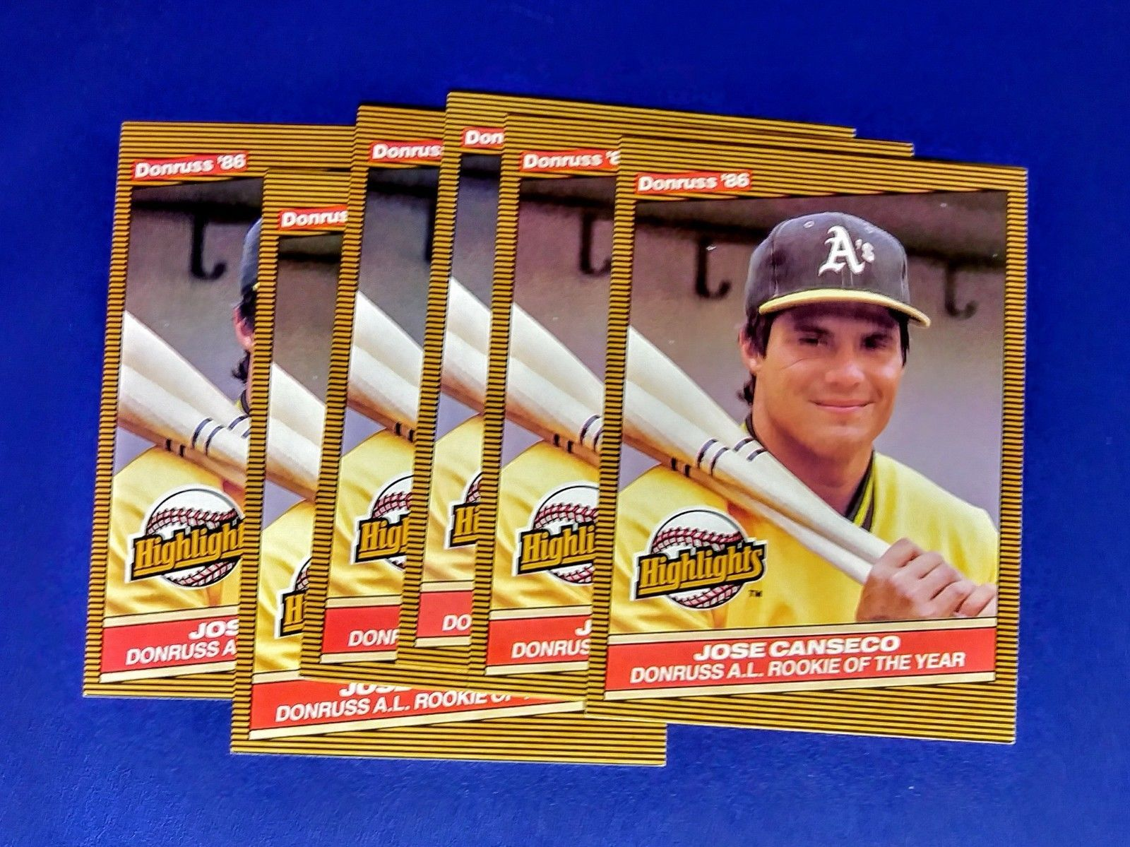 6 Near Mint 1986 Leaf Inc Donruss Jose Canseco Rookie Baseball