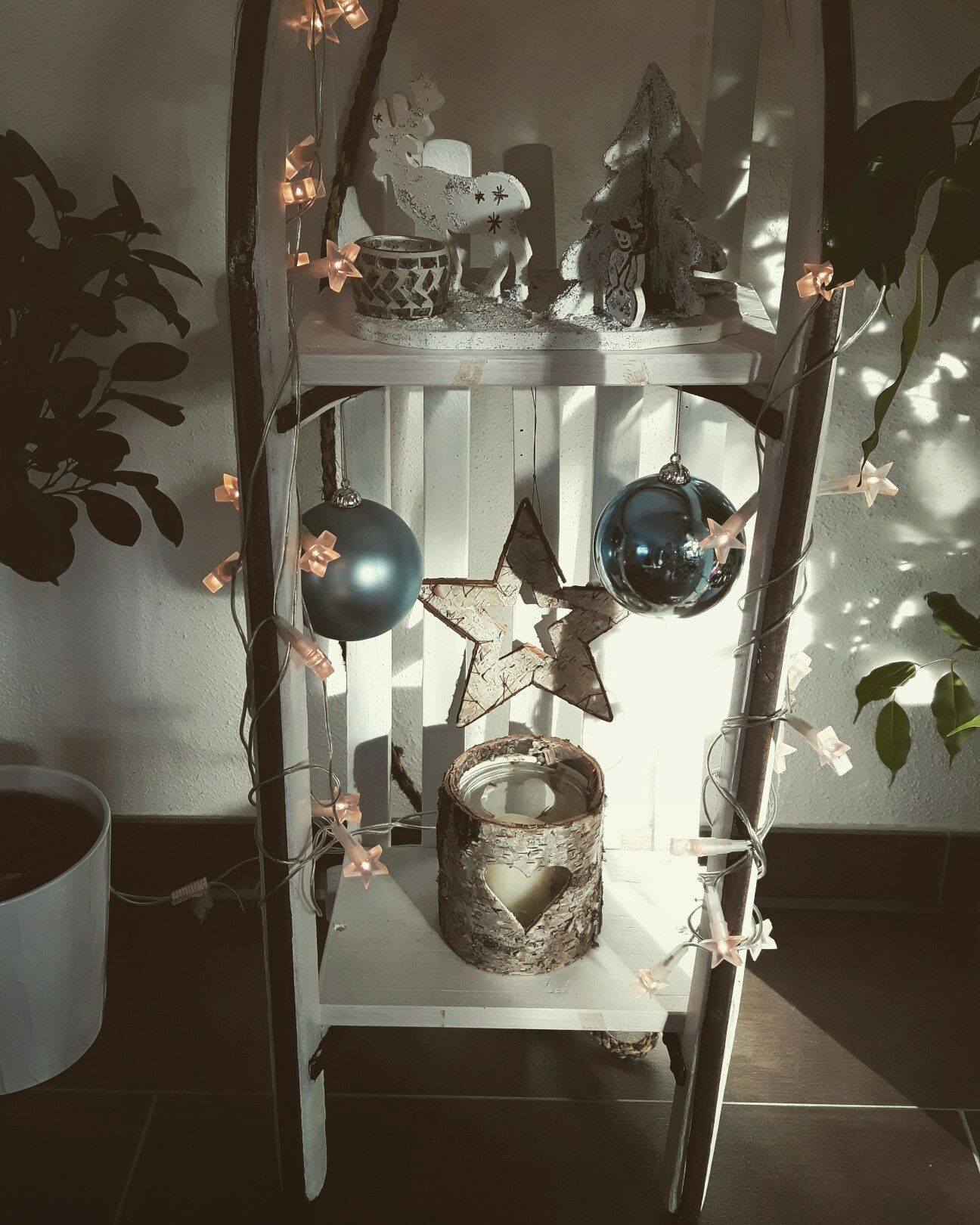 schlitten winterdeko deko christmas sled decor und christmas decorations. Black Bedroom Furniture Sets. Home Design Ideas