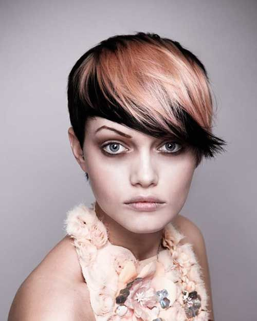 Short Two Color Hairstyles Hair Color Ideas And Styles For 2018