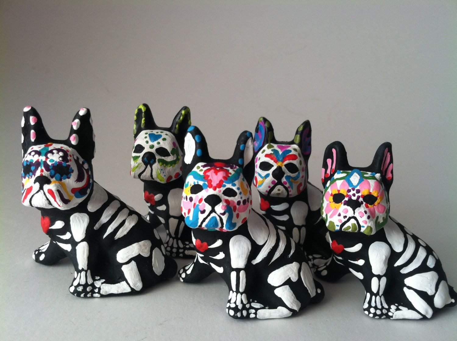 Day Of The Dead Boston Terrier Dog Sugar Skull Pet Memorial Dia De