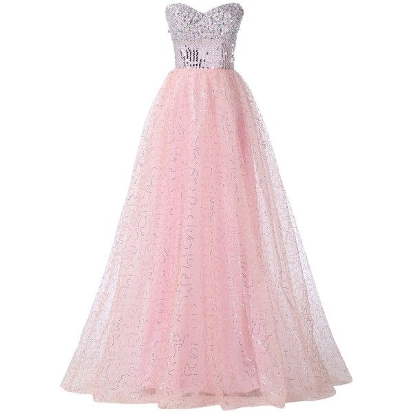 Women's Crystal Tulle Ball Gown Wedding Dresses ($62) ❤ liked on Polyvore featuring dresses and wedding dresses