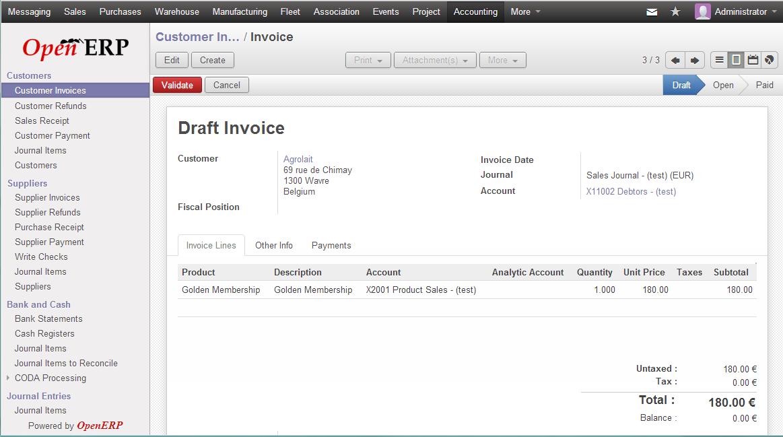 Accounting & Finance Module in Odoo ERP openerp http