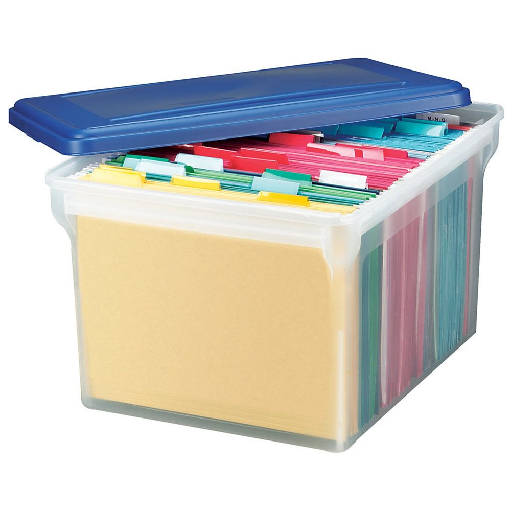 Office Depot® Brand Stackable File Tote Box, Letter/Legal