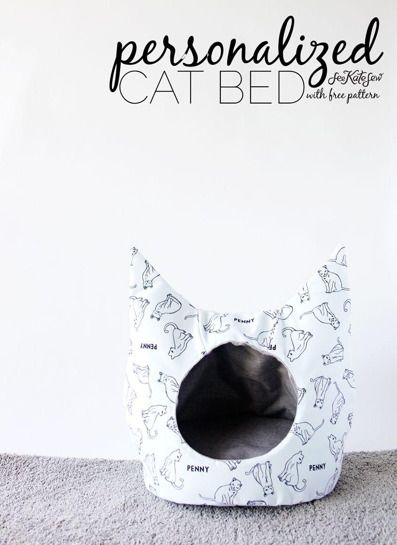 FREE Cat Bed Sewing Pattern   Pets   Pinterest   Patrones de costura ...