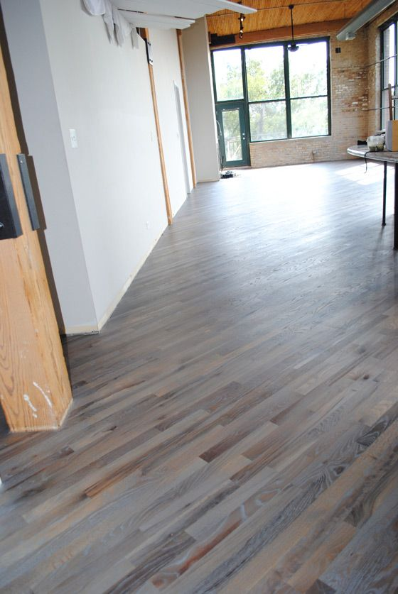 Fumed Silver Grey Rubio Monocoat Red Oak Flooring In