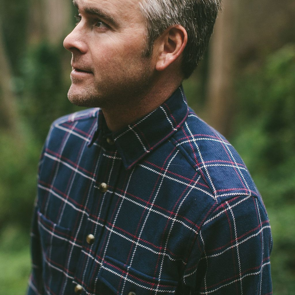 The Crater Shirt in Navy Plaid