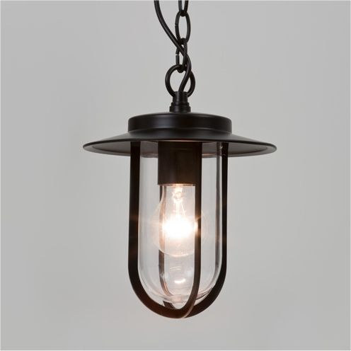 Modern Exterior Pendant With Clear Glass Outdoor Hanging Lights