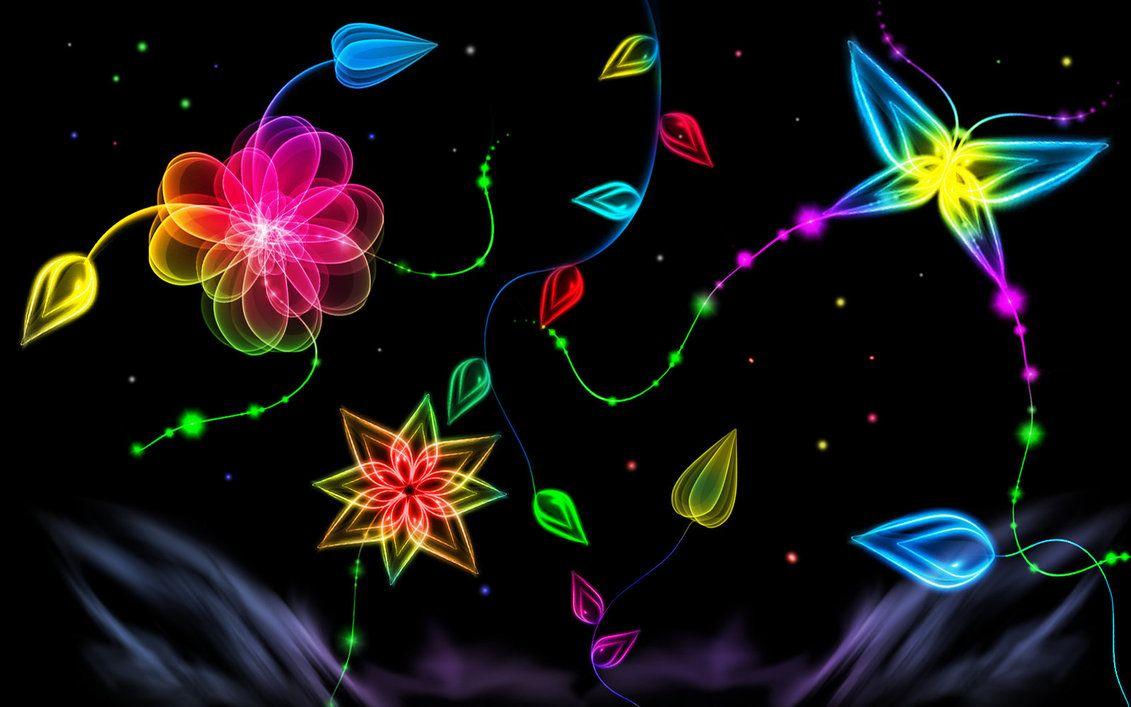 Let Your Desktop Glow With Neon Light Wallpapers Neon Painting Neon Wallpaper Neon Light Wallpaper