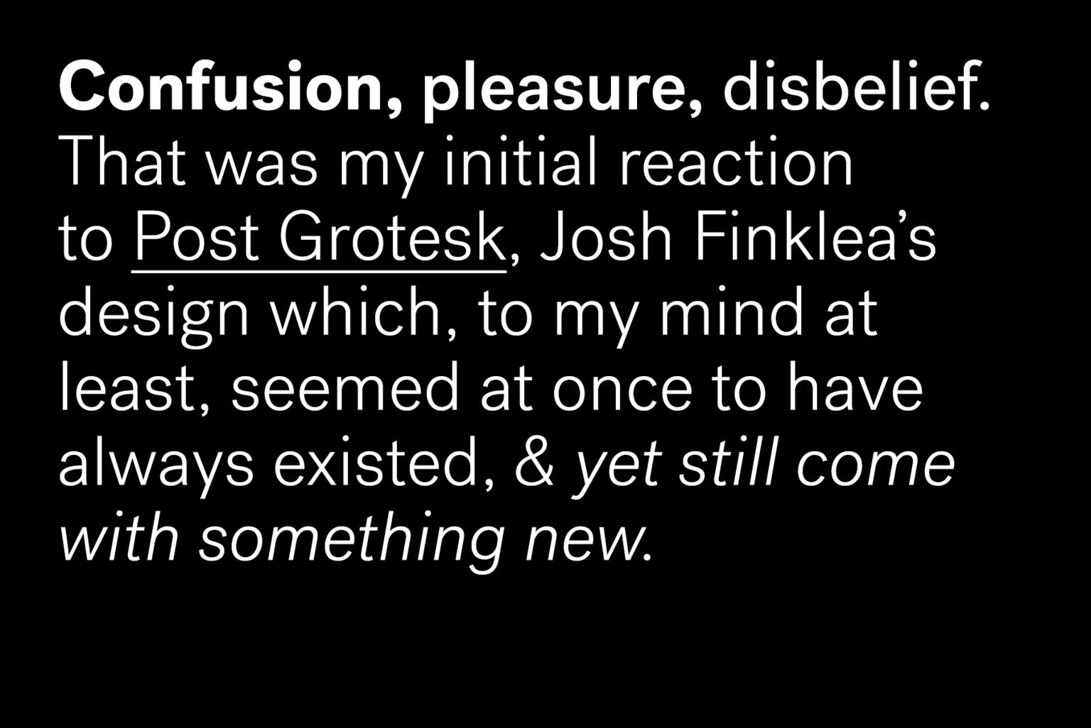 Typographica's Best of 2013 / Post Grotesk / David Sudweeks