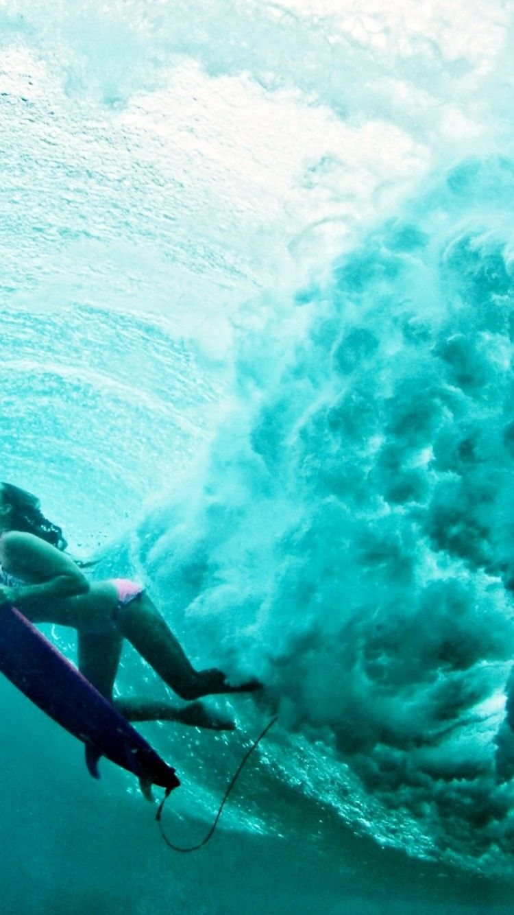 Surfer Girl iPhone 6 Wallpaper 28097 - Sports iPhone 6 Wallpapers