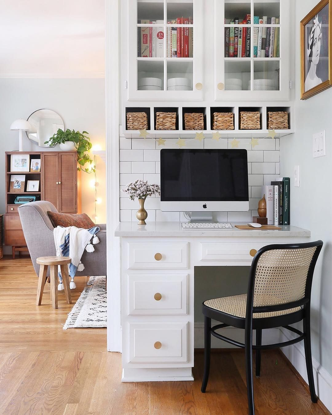 We Survived The Night And Things Are Looking Up Today I Wish My Home Was As Clean As The Picture Makes It L Kitchen Office Nook Desk In Living Room Home
