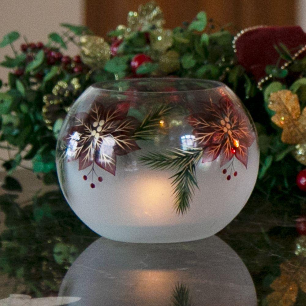 Candle Decor Poinsettia Christmas Flower Arrangements Christmas Votives Christmas Decorations