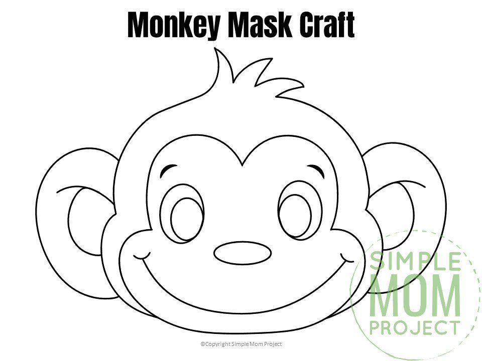 Free Printable Monkey Mask Template Monkey Mask Monkey Coloring Pages Animal Mask Templates