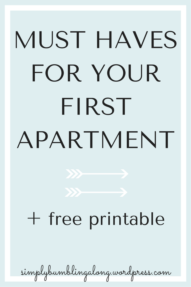 Must-Haves for Your First Apartment