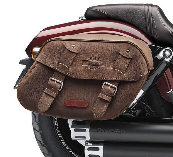 Distressed Brown Leather Saddlebags 88348 10 Saddlebags