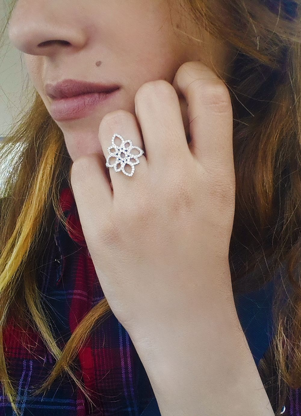 One of our most beautiful diamond rings, bold and yet delicate ...