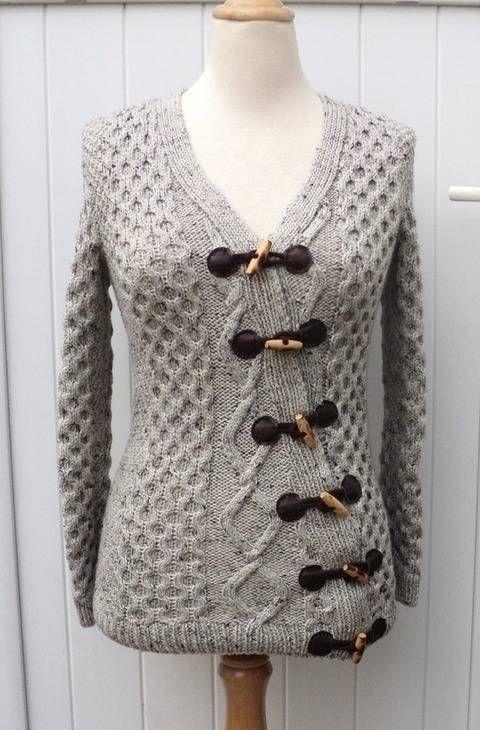 tricot asymétrique explications femme Adeline Gilet modèle en Xqw8vZ
