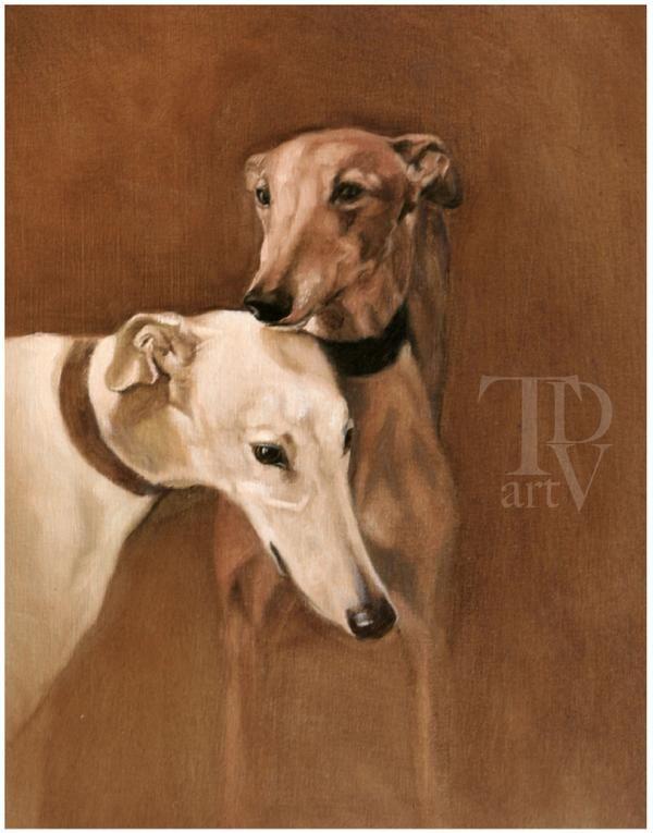 Thomas Dang Vu Italian Greyhound Greyhound Contemporary Art