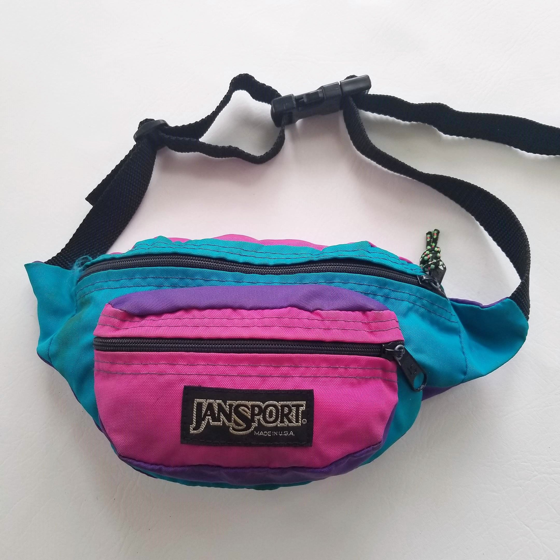 5197f357c073 JanSport Vintage Fanny Pack 80s 90s Pink Purple Teal Pouch Hip Waist Sack  Bag by TraSheeWomen on Etsy #vintage #80s #90s #jansport #fannypack #hipsack
