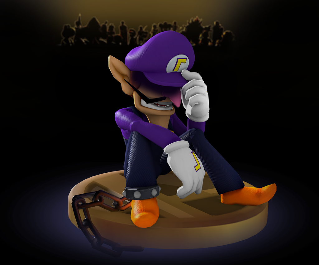 There S Always Next Time Waluigi Next Time Waluigi S Smash Snub Nintendo Super Smash Bros Super Mario Bros Super Mario Art