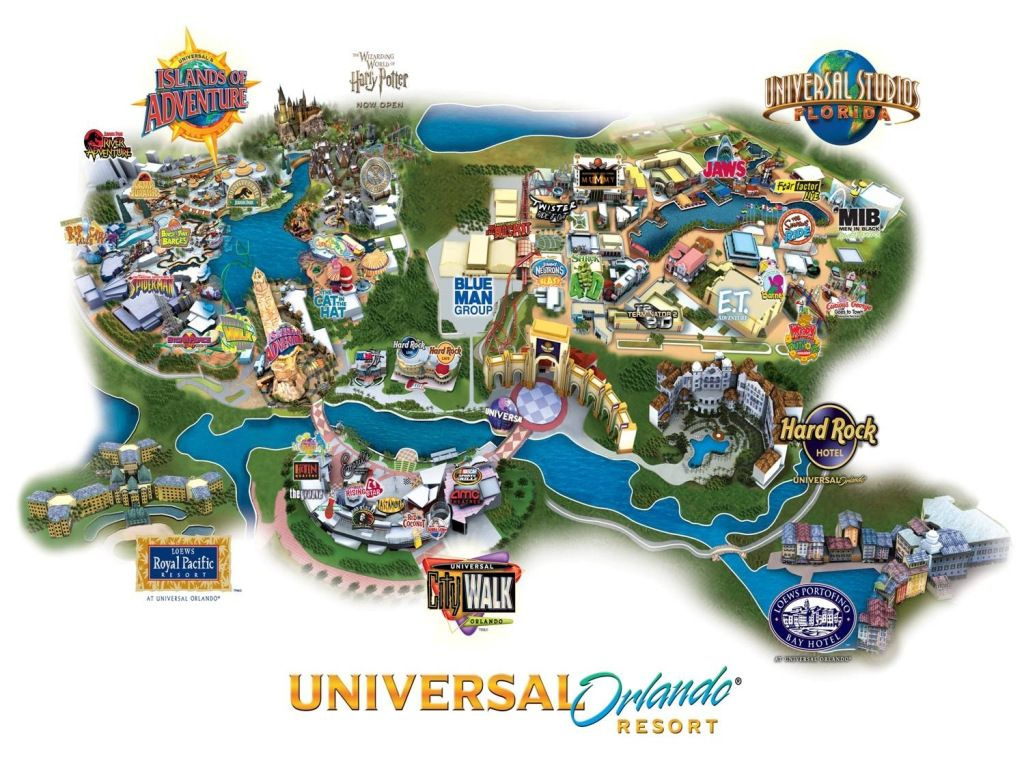 Universal Orlando Resort Vacations I Want To Take With My Son - Map of us amusement parks