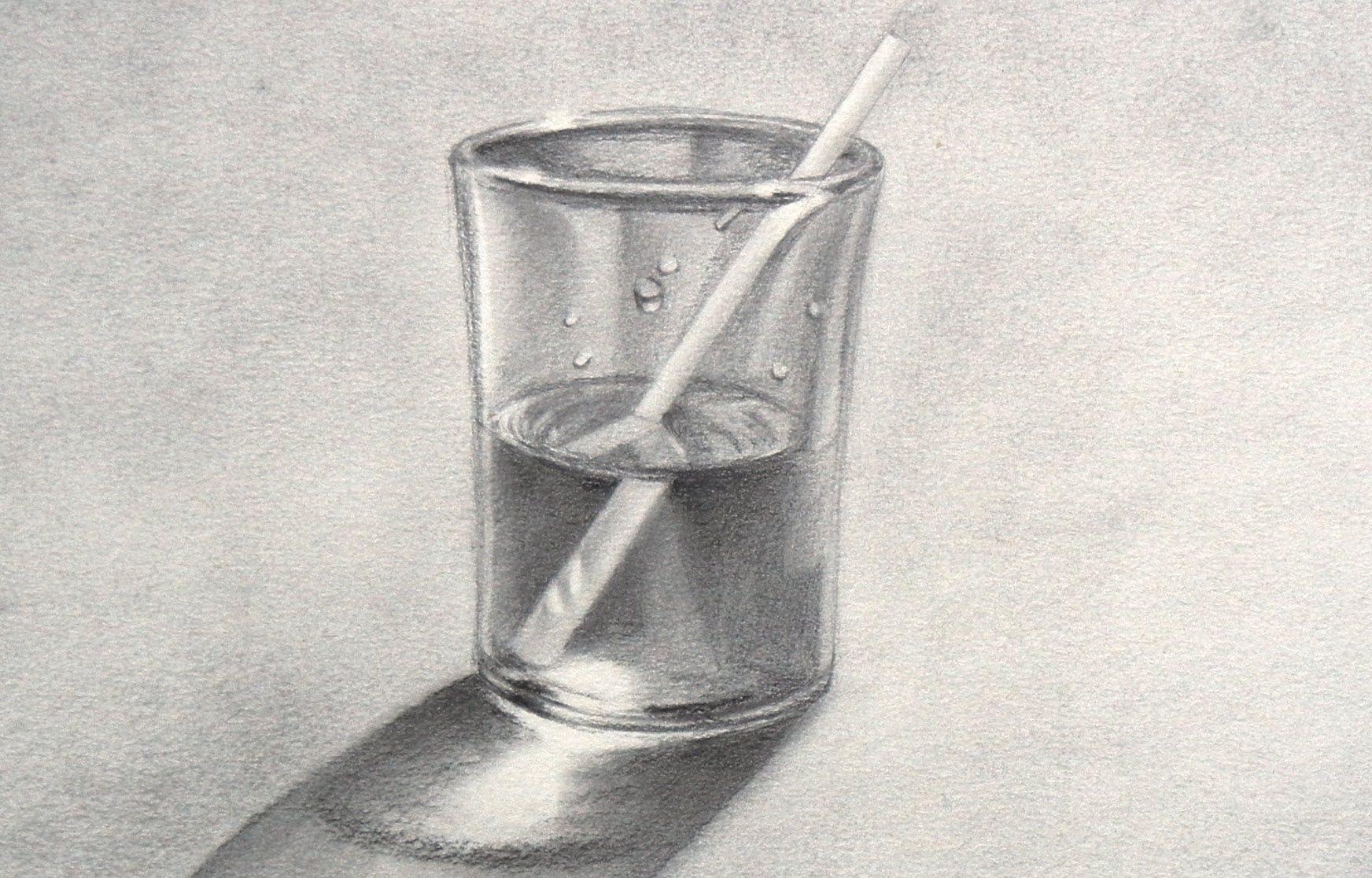 Como Dibujar Un Vaso De Agua Como Dibujar Vidrio Con Imagenes