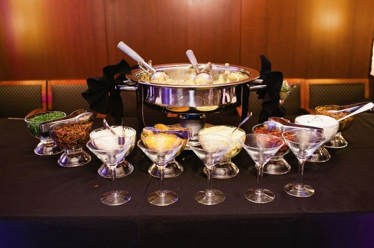 Martini Mashed Potato Bar Ideas | Gourmet Mashed Potato Bar. Catering by Fresh Ideas. | Mr And Mrs