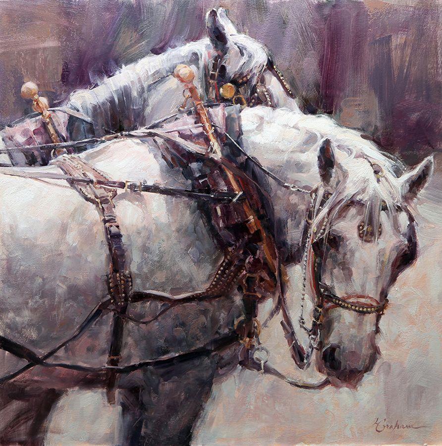 Gray Strength by Lindsey Bittner Graham Oil 19 x 19