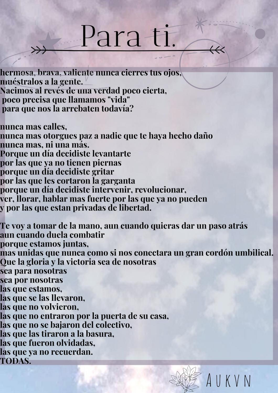 un poco de desahogo. #chile #feminism #poem #feminista #love #poema #escritos