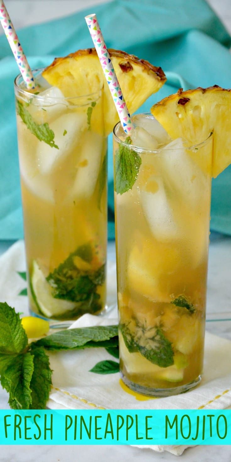 Fresh Pineapple Mojito Recipe - Veggies Save The Day