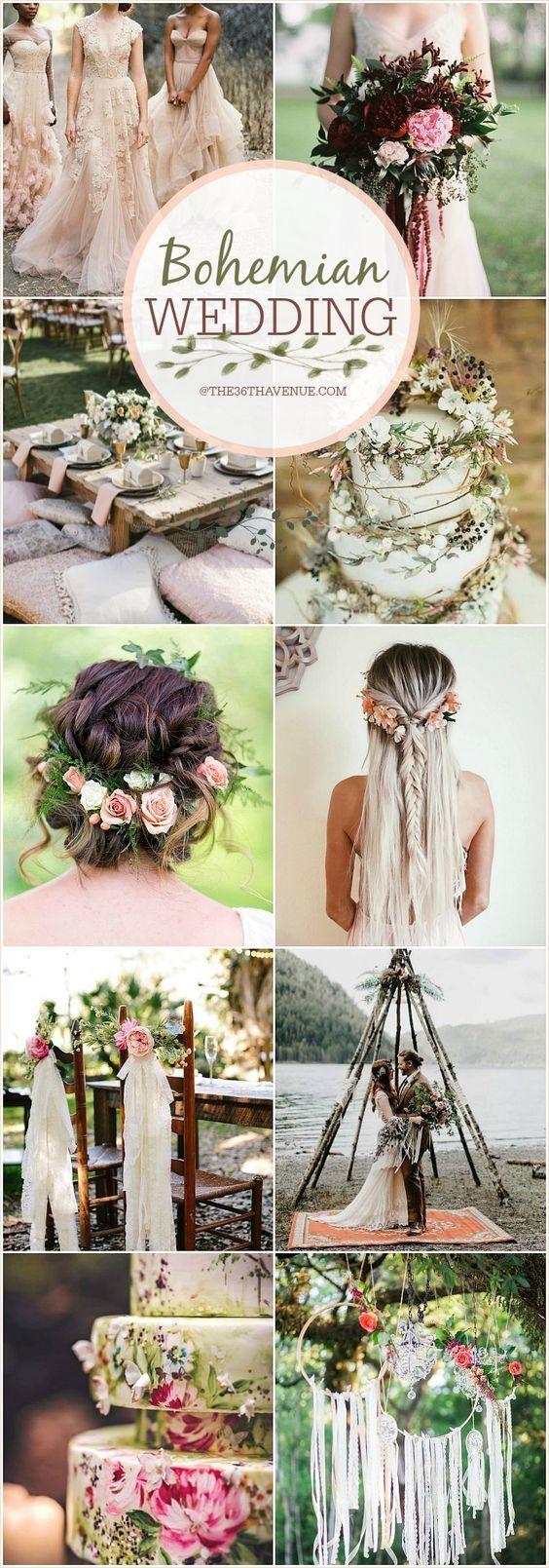 Bohemian wedding ideas diy boho chic wedding mine pinterest