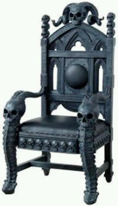 skull chair office chairs houston texas pinterest gotische mobel and sessel